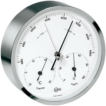 Ordentlich Barigo Maritim Wetterstation Analog Regatta Baro Thermo Hygro Chrom Kleingeräte Haushalt Barometer