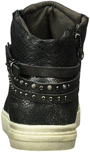 Tom Tailor 1696808, Baskets Basses Femme Noir - Noir