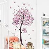 Romote dolce fiore di farfalle albero Wall Stickers Stickers Soggiorno Camera da letto TV