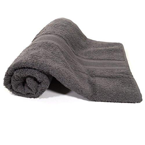 starlabels Duschtuch Grau Frottee Baumwolle 500g/m2 Handtuch 70 x 140 cm
