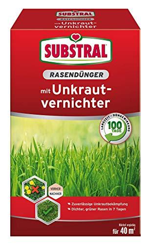 Substral 8229 Rasendünger mit Unkrautvernichter für 40 m², 0,8 kg