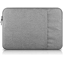 "Funda Bolso para MacBook, annoda sponge-rubber Funda protectora de transporte maletín para MacBook Air de 11,6""/13,3""/13.3-15.4""MacBook Pro/iPad Pro/2015nuevo MacBook 12"" multicolor Light gray 13-13,3 pulgadas"