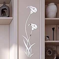 Idea Regalo - Adesivi Murali Fiori Wall Stickers Diy Cameretta Salotto Camera Cucina Rimovibile Impermeabile Arte Carta Da Pareti Decorazione Murales,Mambain