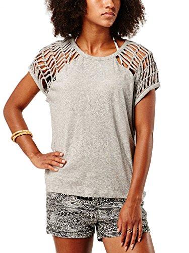 Damen T-Shirt O'Neill Coastal T-Shirt silver melee