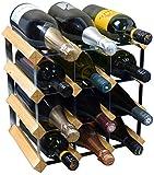 Weinregal für 12 Flaschen - Fertig montiert - Helles Holz