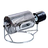 Wotefusi Coffee Roaster Mini Coffee Bean Electric Roasting Machine Stainless Steel Roller Type for Home Office Kitchen 220V