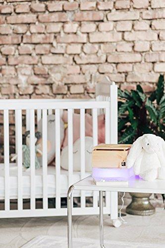 ZirbenLüfter CUBE mini pure, natürlicher Luftbefeuchter / Luftreiniger aus Zirbe / Zirbenholz. – Räume bis 15 m2. (Abdeckung Holz – Zirbe mit Blume des Lebens) - 5
