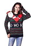 Damen Weihnachtspullover Lustig Pullover Hässliche Pulli Strickpullover Ugly Sweater Weihnachtspulli mit Weihnachtlichen Motiven für Weihnachtsparty