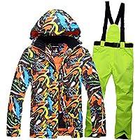 Jiuyizhe Conjunto de Chaqueta y pantalón de esquí de Invierno, para Hombre. (Color : 03, Size : M)