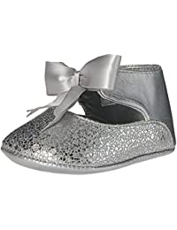 Baby Deer Girls Metallic Ankle Strap With Bow Slip-on