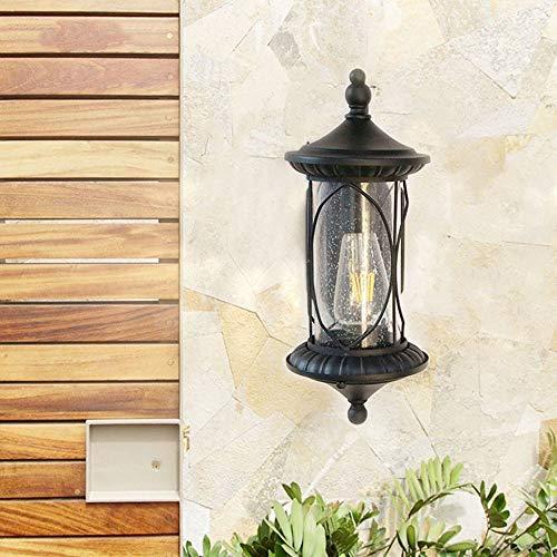 Xinqing Wasserdichte Wandlampe Des Balkons Im Freien/Hofgarten-Landhauslampe/Rustikale Amerikanische Antike Schmiedeeisenlampe/LED-Wandlampe / 170 * 380 * 170mm / E27 * 1 du verdienst es zu habe (Rustikale Steckdosen-abdeckungen)