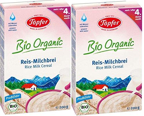 Töpfer Bio-Reis-Milchbrei, 2er Pack (2 x 200g)