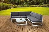 Siena Garden Aluminium Lounge Filio White, mit Textilenbezug und wasserabweisender Kissen