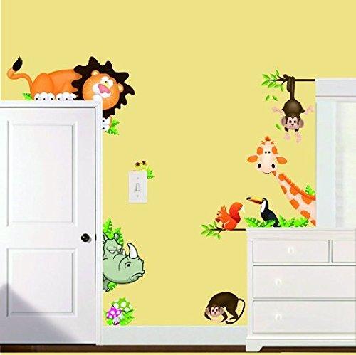 MFEIR® Wandtattoo Kinderzimmer Wandsticker Süße Tiere ...