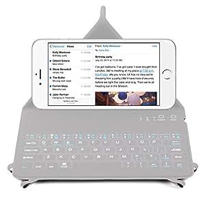 Clavier QWERTY Anglais Bluetooth + support intégré pour Smartphone Apple iPhone 6 Plus Smartphone 4G (Ecran : 5.5 pouces - 128 Go - iOS 8) - Etui fin et fermeture aimantée - Garantie 2 ans DURAGADGET