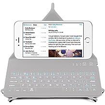 DURAGADGET Teclado Bluetooth INGLÉS Para Apple iPhone 6s Plus / 6s / 6 / 6 Plus / 5s / 5c - NO TIENE Ñ - Con Función Atril - ¡Super Ligero!