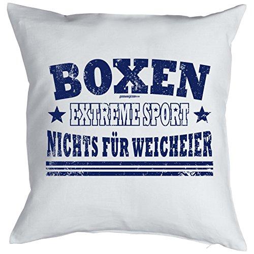 Boxen Extreme Sport - Nichts für Weicheier! Kissen komplett mit Füllung, Sofakissen, Dekokissen, Sofakissen