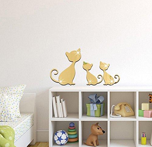 extsud® Corte Gatos adaptarse adhesivo para pared decoración del hogar extraíble y duradero DIY Arte-pegatinas decorativas para azulejos para niños Baby dormitorio, salón, Nursery, puertas, Ventana, cuarto de baño