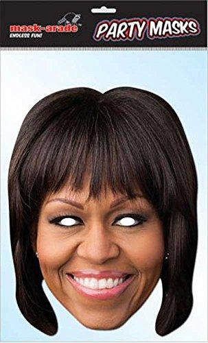 empireposter Michelle Obama Prominentenmaske, Papp Maske, aus hochwertigem Glanzkarton mit Augenlöchern, Gummiband - Grösse ca. 30x21 ()