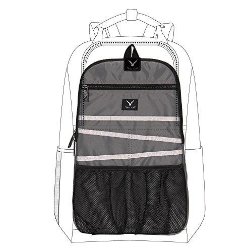 Hynes Eagle Damen Universal-Rucksack-Einsatz-Organisator Reisetasche Beleg Gadget Organisation Kit Mit Laptop Sleeve Grau Einheitsgröße Digital Backpack Kit