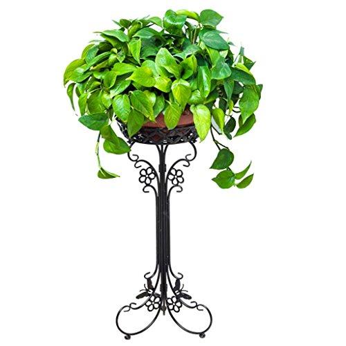 FZN fer forgé balcon fleurs multicouches radis vert pots de fleurs succulentes fleur moderne minimaliste plancher Pots de fleurs (Couleur : Noir, taille : 35*95)