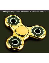 mengde 360Spinner Ayuda a Focusing Fidget Juguetes [3d figit] Premium calidad EDC Focus juguete para niños & adultos–mejor reductor de estrés aliviar el TDAH ansiedad y aburrimiento cubo de cerámica rodamientos, dorado