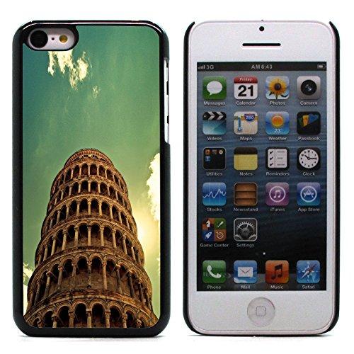 Graphic4You Manarola Italy Postkarte Ansichtskarte Design Harte Hülle Case Tasche Schutzhülle für Apple iPhone 5C Pisa Tour