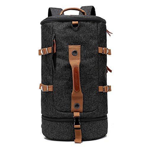 CoolBell Sport Rucksack umwandelbar Tasche Umhängetasche Messenger Bag Business Aktentasche leicht wasserdicht Rucksack Sport Reisen Tasche Passend 17,3 Zoll Laptop für Herren/Damen (Schwarz)