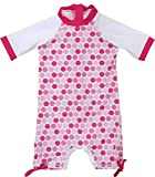 FEDJOA Maillot de Bain Anti-UV Fille - Poppy - Combinaison Anti Sable- 12-18 Mois