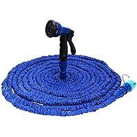 shuzhen,Manguera de jardín Extensible con 8 Modos de tuberia de Agua Pistola de Spray(Color:Azul,Size:25FT)