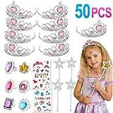 Tacobear 50 Piezas Disfraz Princesa Niña con Tiara Princesa Corona...