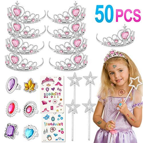 Tacobear 50 Piezas Disfraz Princesa Niña Tiara Princesa