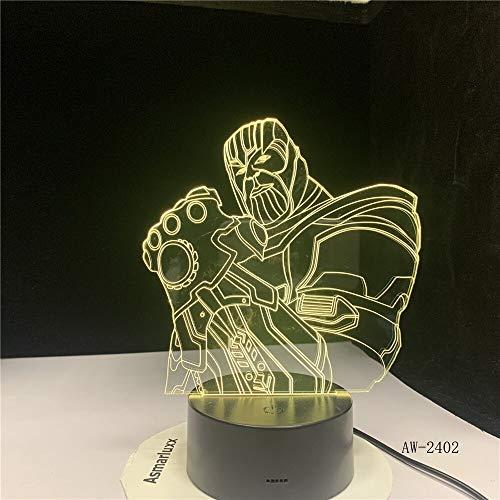 Thanos The Avengers Big Villain 3D LED 7 Cambio color