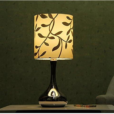 Guo Lámpara de mesa de cerámica Lámpara de cabecera de dormitorio Salón de estar creativo Lámpara de mesa moderna simple de cerámica de