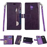 Yobby Reißverschluss Brieftasche Hülle Samsung Galaxy J6 2018, Samsung Galaxy J6 2018 Handyhülle,Slim Luxus Leder... preisvergleich bei billige-tabletten.eu
