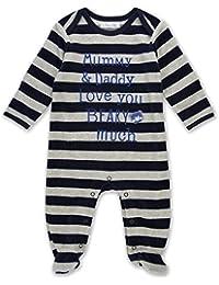 The Essential One - Baby Jungen - Teddybär Strampler - Blau / Grau - EO238