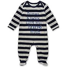 The Essential One -Bebé niños - Pijama de oso de peluche - Azul / Gris - EO238