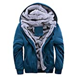ZHIWEINI Herren Sweatshirt Männer Hoodies Sweatshirts Winter Warm Fleece Plus Size Hoodies Jacke Parkas Lässige Streetwear Strickjacke Mantel Teenager