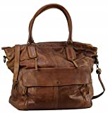 BZNA Bag Boney cognac Italy Designer Damen Handtasche Schultertasche Tasche Leder Shopper Neu