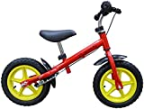 "point-kids walking / running bike for children, 12 inches, with rear brake, ""speedy red"""
