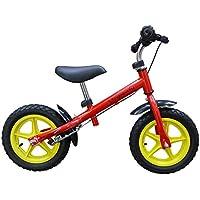 Bicicletta senza pedali per bambini bicicletta senza pedali 12 pollici, freni - in rosso