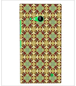 PrintDhaba Pattern D-5221 Back Case Cover for NOKIA LUMIA 730 (Multi-Coloured)