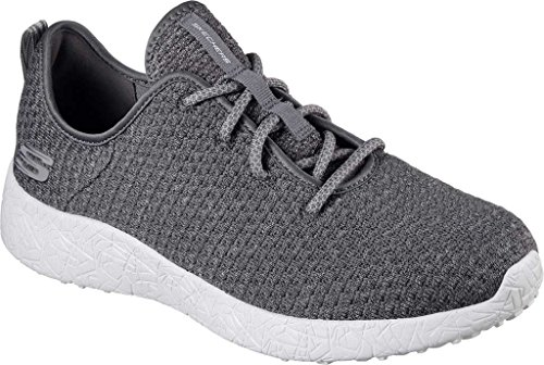 Skechers Herren Burst-Donlen Sneaker Charcoal Mesh/Trim