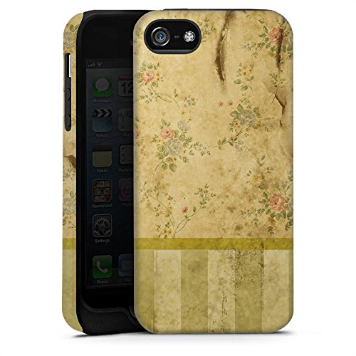 Apple iPhone 4 Housse Étui Silicone Coque Protection Rétro Mur Bandes Cas Tough terne