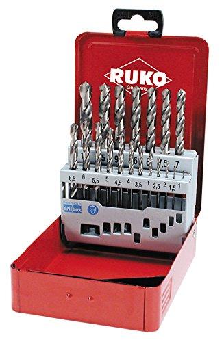 RUKO 215215 Spiralbohrersatz Cobalt, 19tlg.Stahlbl.