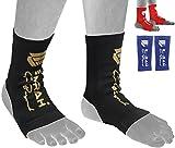 Emrah Cheville Pied support de cheville Brace Pad Sock kickboxing Thai Protector MMA–X, noir