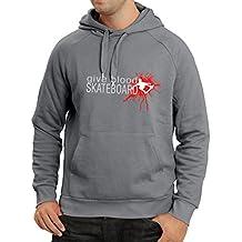 lepni.me Sudadera con Capucha Give Blood Skateboard! - Citas Divertidas de Skateboard,
