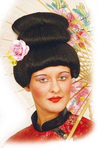 Asian Lustig Kostüm - Orlob Damen Perücke Asian Lady zum Japanerin Kostüm Geisha zu Karneval