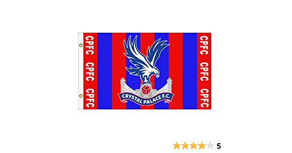 Official Crystal Palace Crest Football Fans Pennant for the Home or Office