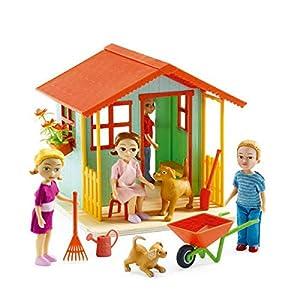 Djeco  - Casa de muñecas casita de jardín